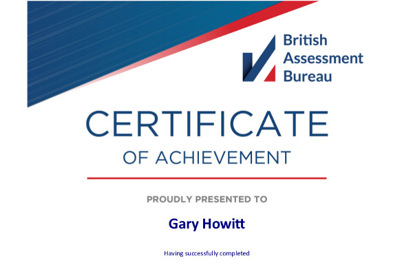 Gary Howitt si qualifica come auditor interno per lo standard ISO 27001