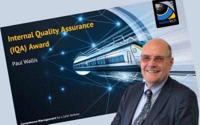 Internal Quality Assurance Award monitors assessor performance