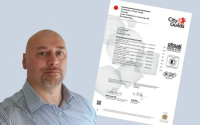 Gary Howitt achieves a Level 4 Diploma in Learning and Development