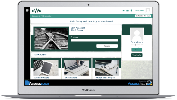 AssessBook enabled GWR to reduce skills fade during lockdown
